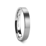 Messalina Brushed Flat Tungsten Wedding Band