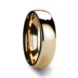 Oro Domed Gold Tungsten Wedding Band