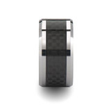Paterson Tungsten Wedding Band with Black Carbon Fiber Inlay