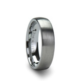 Perseus Brushed Domed Tungsten Wedding Band