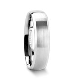 Polaris Domed Brushed Tungsten Wedding Band