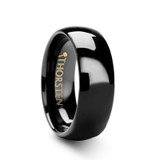 Raven Domed Black Tungsten Wedding Band
