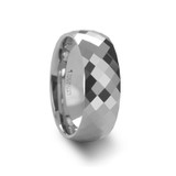 Scottsdale Faceted White Tungsten Wedding Band