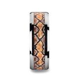 Serpentine Tungsten Wedding Band with Snake Skin Design Inlay