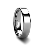 Spartan Flat Tungsten Wedding Band