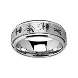 Star Wars Tie Fighter X-Wing Spinner Tungsten Wedding Band