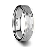 Winston Hammered White Tungsten Wedding Band