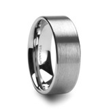Solar Flat Profile Brushed Men's Titanium Wedding Band