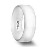 Glacier Men's White Ceramic Wedding Band