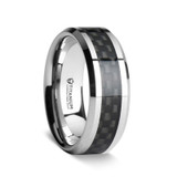 Colosseum Men's Titanium Wedding Band with Carbon Fiber Inlay