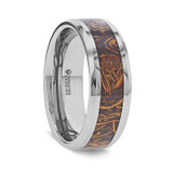 Abba Men's Wedding Band with Sanskrit Stone Inlay