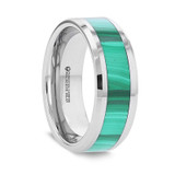 Mahi Men's Wedding Band with Malachite Inlay