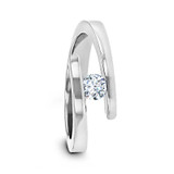 Anna Women's Tension-Set Diamond Titanium Wedding Band