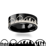Star Wars Men's Black Tungsten Wedding Band