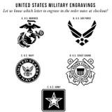 Army Symbol Men's Tungsten Wedding Band