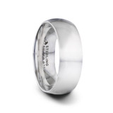 Vivid Domed Silver Men's Wedding Band from Little King Jewelry