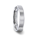 Casper Brushed Silver Women's Wedding Band
