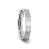 Aristocrat Brushed Silver Women's Wedding Band