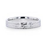 Silverado Hammered Silver Women's Wedding Band