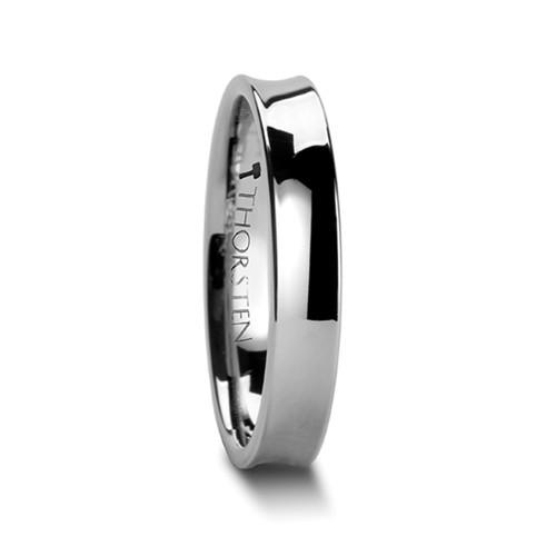 Dieitrephes Concave Tungsten Carbide Wedding Band