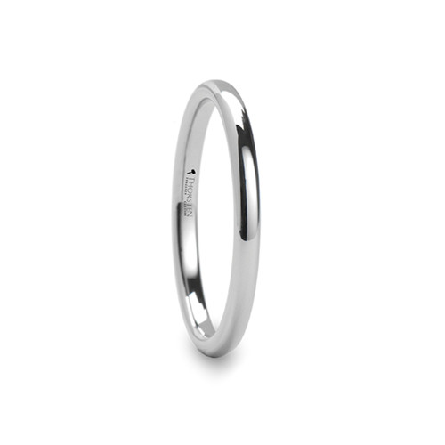 Constans Round White Tungsten Carbide Wedding Band