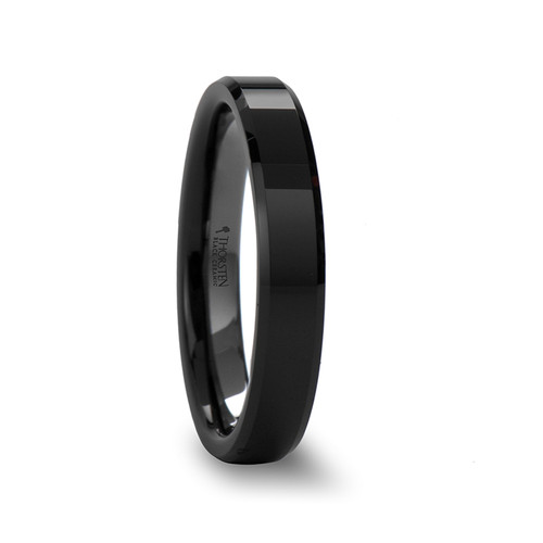 Chlothar Black Ceramic Wedding Band