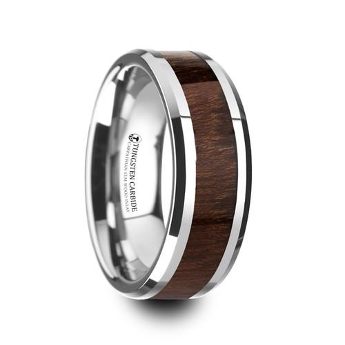 Edwin Carpathian Wood Inlay Tungsten Carbide Wedding Band