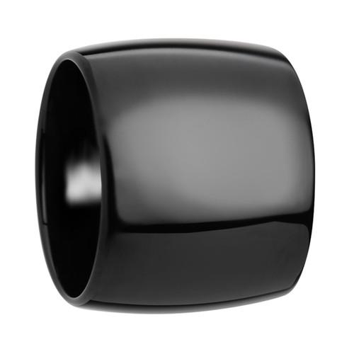 Ourias Domed Black Tungsten Carbide Men's Wedding Band