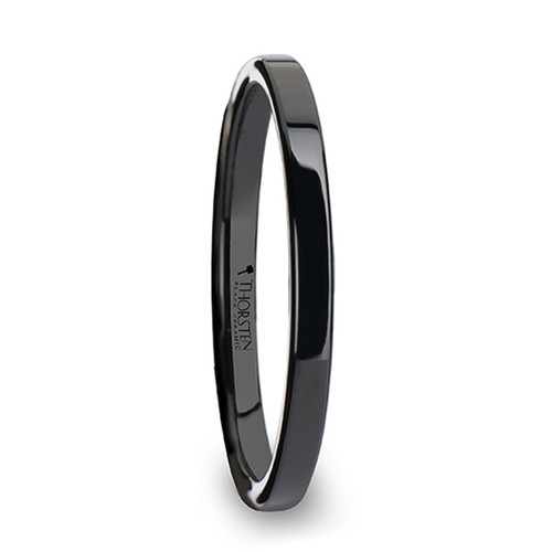 Macrinus Black Ceramic Wedding Band