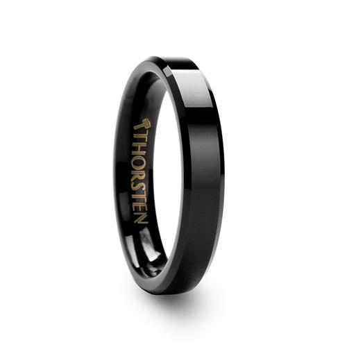 Ebulus Black Tungsten Wedding Band