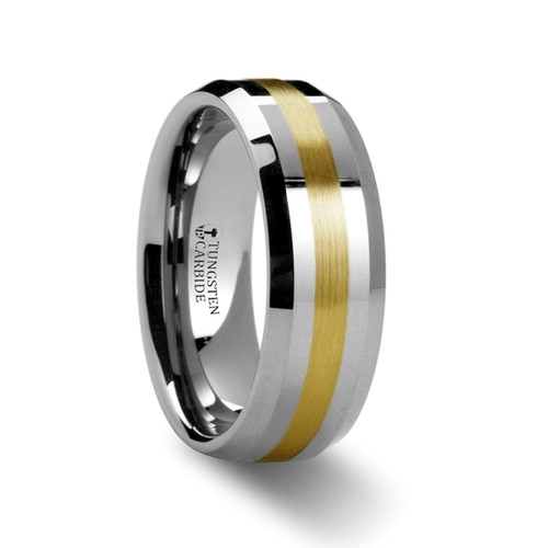 Antoninus Gold Inlay Tungsten Wedding Band