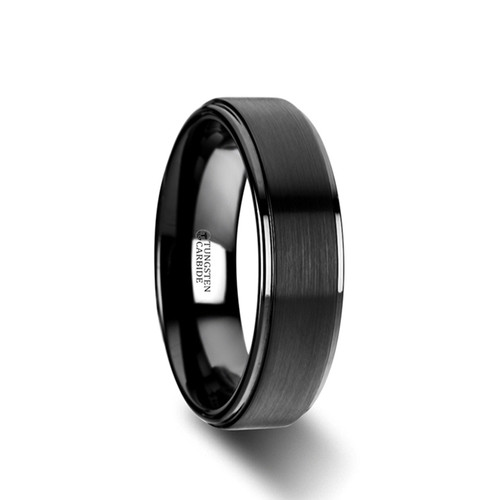 Arsaces Brushed Black Tungsten Wedding Band