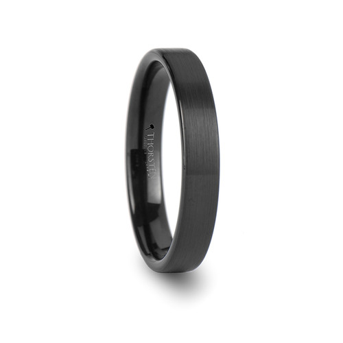 Alexis Black Tungsten Carbide Brushed Women's Wedding Band