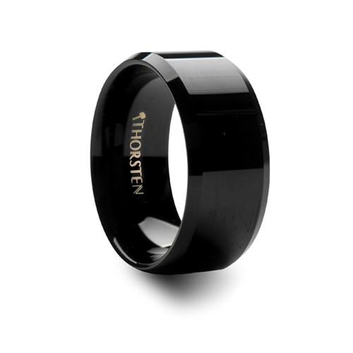 Alexander Black Tungsten Carbide Men's Wedding Band