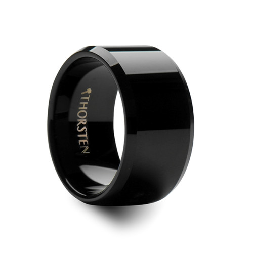 Hegias Black Tungsten Carbide Men's Wedding Band