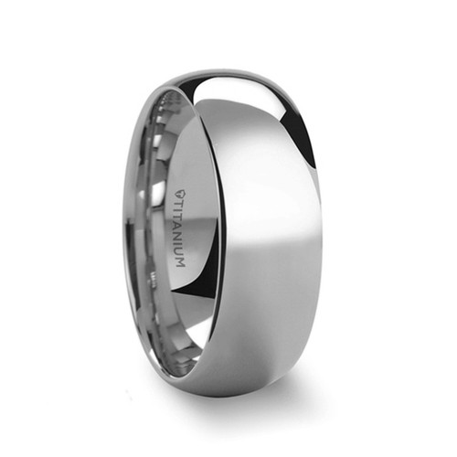 Komeas Titanium Domed Men's Wedding Band