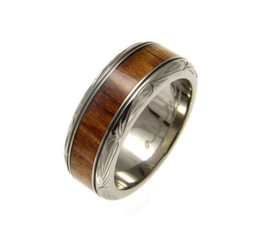 Jewelry & Watches Faithful Titanium 14k Yellow Inlay 8 Mm Brushed Wedding Band Selected Material