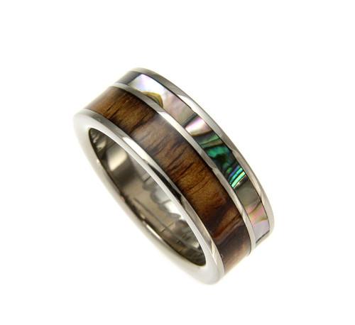 Bridal & Wedding Party Jewelry Engagement & Wedding Faithful Titanium 14k Yellow Inlay 8 Mm Brushed Wedding Band Selected Material