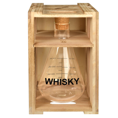 Whisky Decanter Wood Crate Box