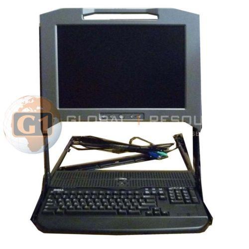 """Dell 17"""" KMM RU943 1U Rack Mount LCD Console"""