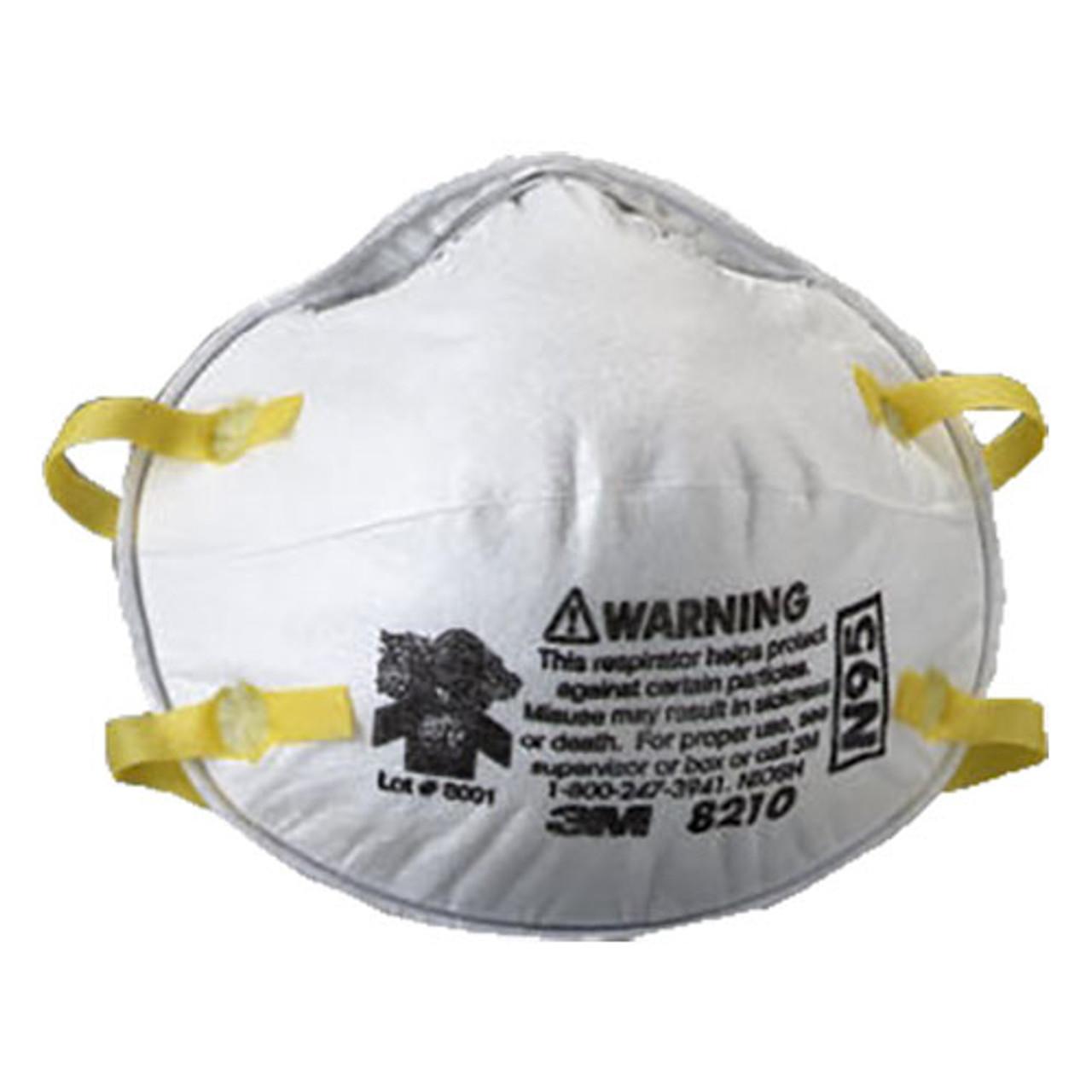 3m N95 8210 Rp6810 Disp Ea Particulate bx Respirator 20