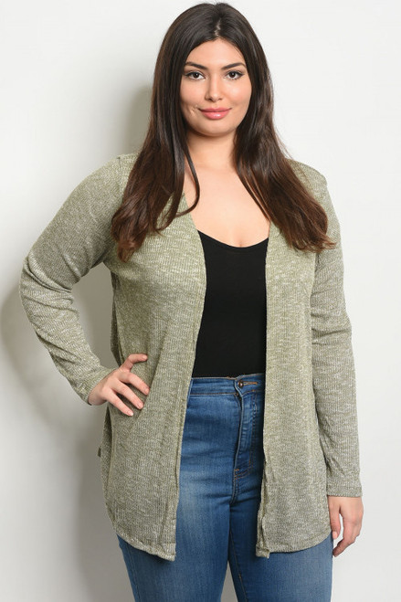 Olive Plus Size Cardigan