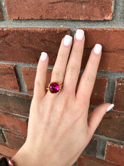 Victoria Lynn 12mm Rope Ring - Size 8