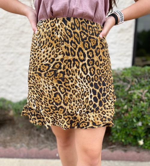 Flirty & Thriving Leopard Skirt