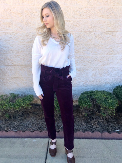 All Dressed Up Velvet Pants