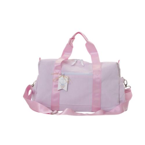 Seersucker Duffle Bag