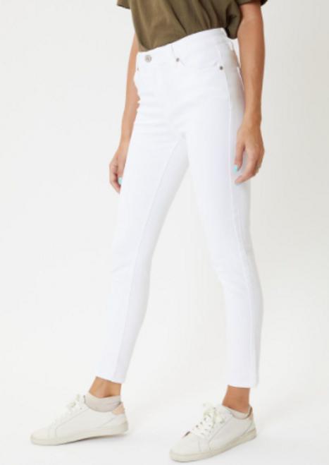 Florence White Kancan Skinny Jeans
