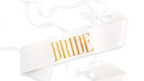 White Bride Sash