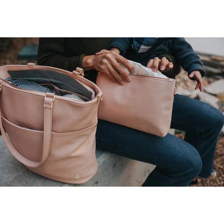 Nappy bag - Premium Vegan Leather Pouch Set