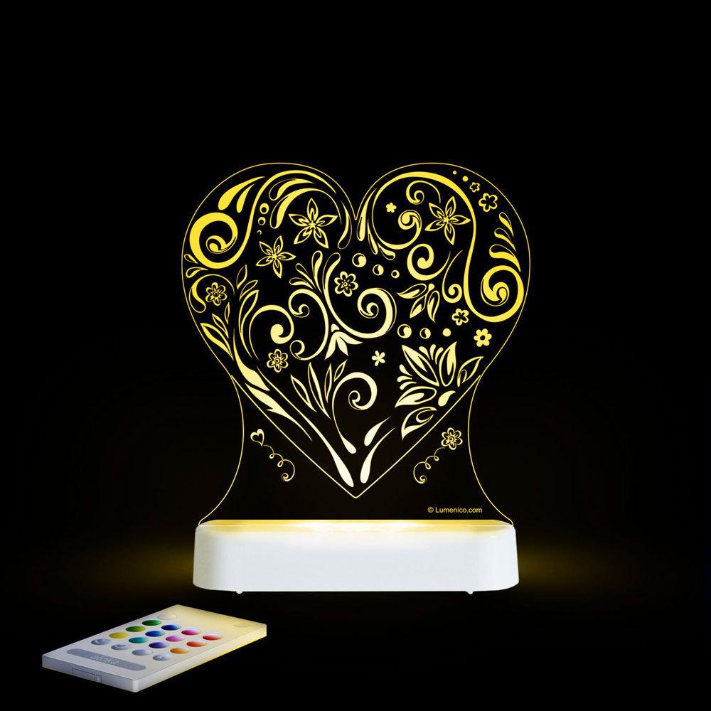 Aloka USB/Battery LED Night Light - Heart